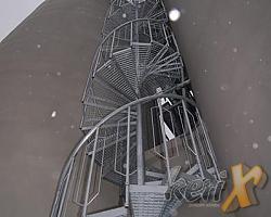 Schody zewnętrzne, wysokość 16m, wykonanie Cieszyn Czechy.